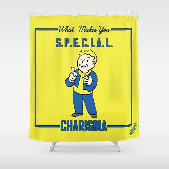 Amazing Charisma S.P.E.C.I.A.L. Fallout 4 Shower Curtain