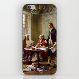 Writing The Declaration of Independence iPhone Skin