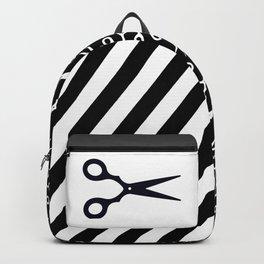 Simple Black Scissors Backpack