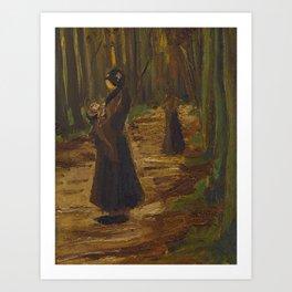Vincent van Gogh - Two Women in the Woods (1882) Art Print