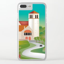 Burgundy, France - Skyline Illustration by Loose Petals Clear iPhone Case