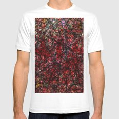abstract # ### # ## Mens Fitted Tee MEDIUM White