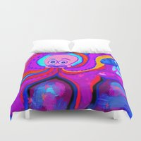 lsd Duvet Covers featuring octopus LSD by MichellicA