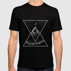 Pyramidal Peaks Black LARGE Mens Fitted Tee