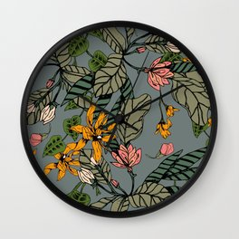 blooming flower botanical Wall Clock