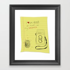 yashica love Framed Art Print
