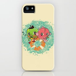 The Pond Lovers - Mr. Froggy and Ms Goldfish iPhone Case