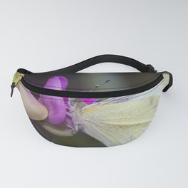 White Butterfly Fanny Pack