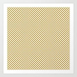 Pirate Gold Polka Dots Art Print