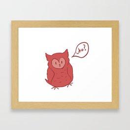Fluffy Red Owl Framed Art Print