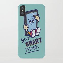 Not Smart Phone. iPhone Case