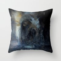 compass Throw Pillows featuring compass by Imagery by dianna
