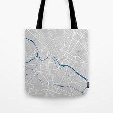 Berlin city map grey colour Tote Bag