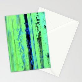Urban Rain IV Painterly Abstract Stationery Cards
