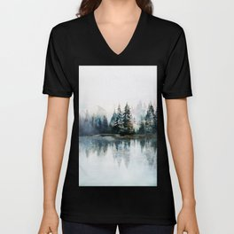 Winter Morning Unisex V-Neck