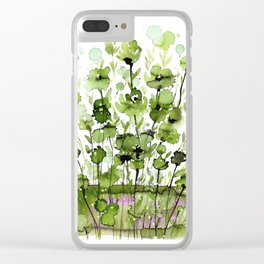 Floral Charm No.1I by Kathy Morton Stanion Clear iPhone Case