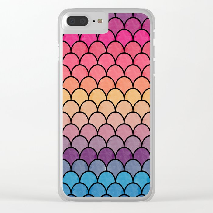 Watercolor Lovely Pattern CI Clear iPhone Case
