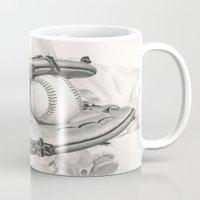 baseball Mugs featuring Baseball by aurelia-art