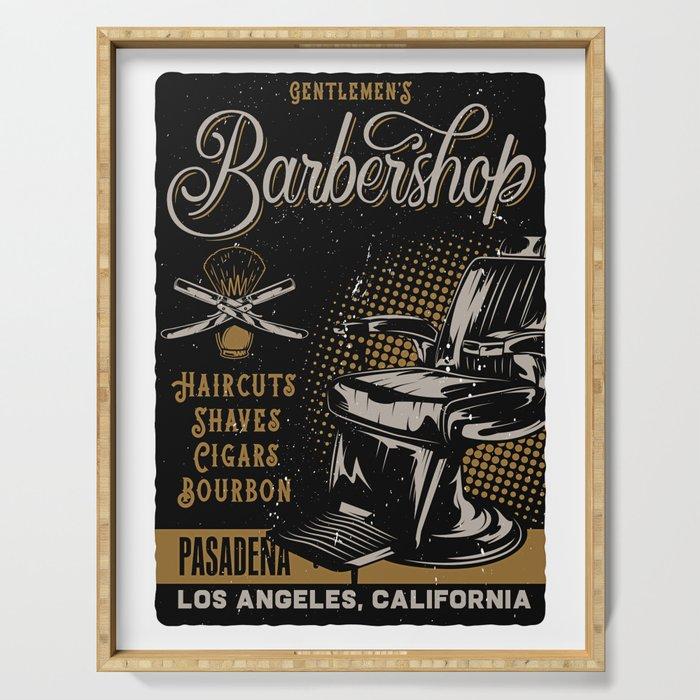 Gentlemen's Barber Shop LA Serving Tray