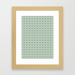 Grey and Mint Triangle Architecture Print Framed Art Print