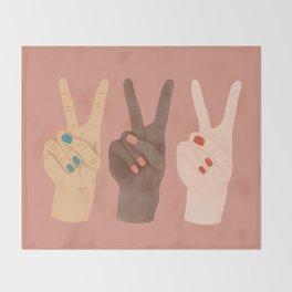 Peace Hands Throw Blanket