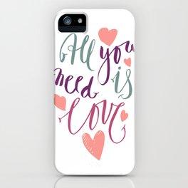 Love quotation handwriting iPhone Case