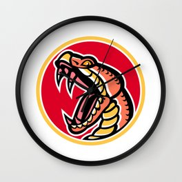 Copperhead Snake Mascot Wall Clock