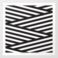 stripes Art Prints featuring Stripes by Dizzy Moments