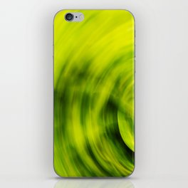 Green Foliage Motion Abstract. iPhone Skin
