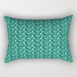 Sea Green Tiles Rectangular Pillow
