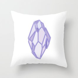 polygonal crystal Throw Pillow