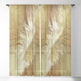 Golden Ostrich Sheer Curtain
