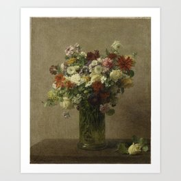 Flowers from Normandy by Henri Fantin-Latour Art Print