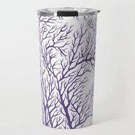 Head Profile Branches - Ultra Violet Travel Mug