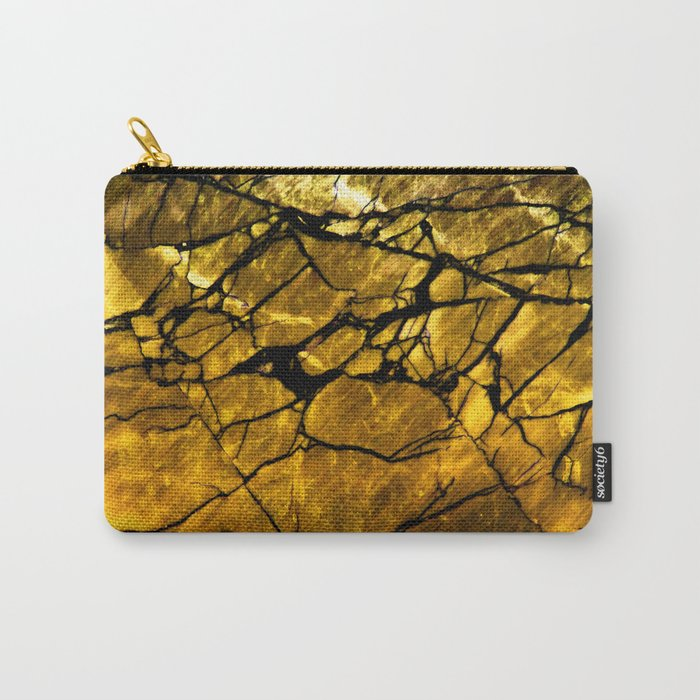 Gold Labradorite Crystal Carry-All Pouch