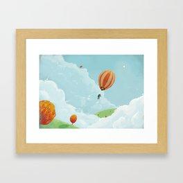 Airborne Janitor Framed Art Print
