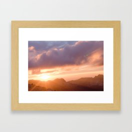 Sunset in the Great Pacific Northwest Framed Art Print