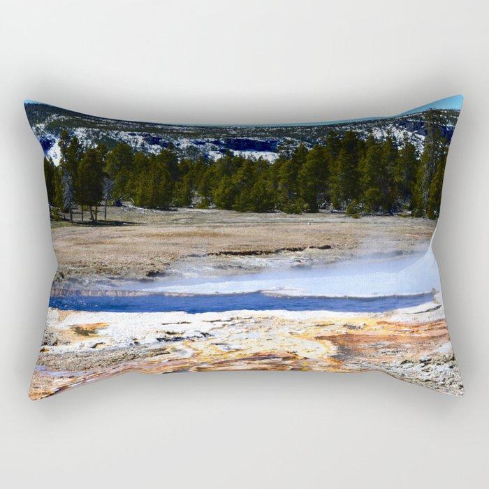 Castle Geyser-Yellowstone Rectangular Pillow