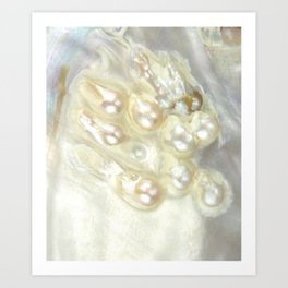 Shimmery Pearly Abalone Shell Art Print