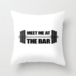 Meet Me At The Bar Throw Pillow