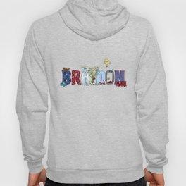 BRAYDON / personalised name illustration Hoody