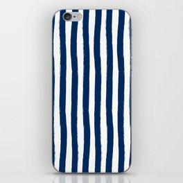 Navy and White Cabana Stripes Palm Beach Preppy iPhone Skin