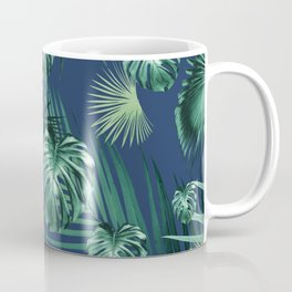 Tropical Jungle Night Leaves Garden #2 #tropical #decor #art #society6 Coffee Mug