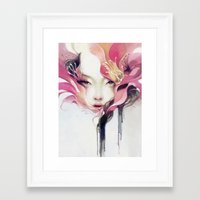 decorative Framed Art Prints featuring Bauhinia by Anna Dittmann