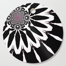 The Modern Flower Black White Pink Cutting Board