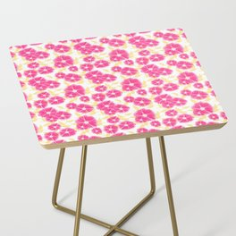 12 Sketched Mini Flowers Side Table