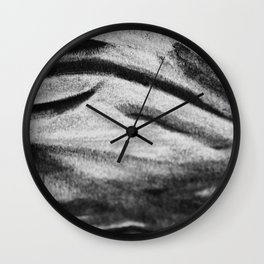 Charcoal Smudge Wall Clock