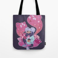 pastel goth Tote Bags featuring Pastel Tea by LaRi