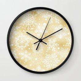 Snowflakes pattern Wall Clock