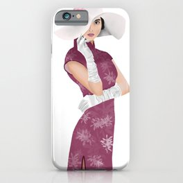 Chinese high society lady iPhone Case